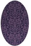 rug #282153   oval purple damask rug