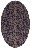 rug #282165 | oval damask rug