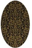 rug #282173 | oval mid-brown rug