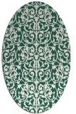 rug #282189 | oval green damask rug