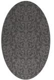 rug #282205   oval brown damask rug