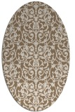 rug #282209 | oval mid-brown natural rug