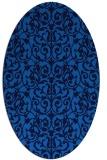 rug #282225 | oval blue damask rug