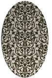 rug #282233 | oval damask rug