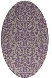 rug #282237 | oval purple damask rug