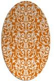 rug #282249 | oval orange traditional rug