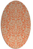 rug #282253 | oval orange traditional rug