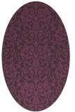 rug #282281   oval purple rug