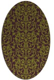 rug #282285 | oval purple traditional rug