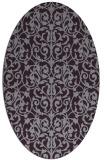 rug #282293 | oval purple damask rug