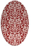 rug #282305 | oval red traditional rug
