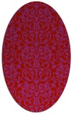 rug #282309 | oval red traditional rug