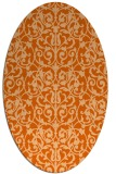 rug #282317 | oval red-orange damask rug
