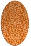 rug #282317 | oval red-orange rug