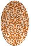 rug #282325 | oval red-orange damask rug
