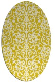 rug #282357 | oval yellow traditional rug