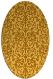 rug #282361 | oval light-orange damask rug