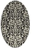 rug #282365 | oval black traditional rug