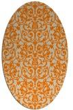 rug #282373 | oval beige traditional rug