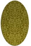 rug #282377 | oval light-green rug
