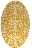 rug #282393 | oval light-orange damask rug