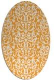 rug #282405 | oval light-orange damask rug