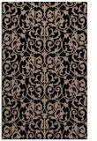 rug #282421    black damask rug