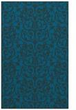 rug #282489 |  blue damask rug