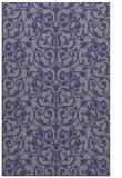 rug #282497    blue-violet damask rug