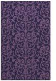 rug #282505    blue-violet damask rug
