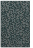rug #282537 |  blue-green damask rug