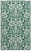 rug #282541 |  blue-green damask rug