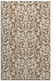 rug #282561 |  mid-brown damask rug