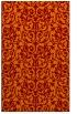 rug #282597 |  orange damask rug