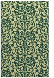 rug #282613 |  yellow damask rug