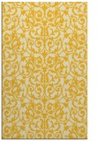 rug #282697 |  yellow damask rug