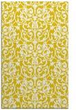 rug #282709 |  yellow damask rug