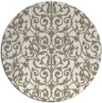 rug #282761 | round white natural rug