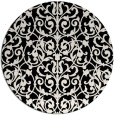 rug #282765 | round white traditional rug