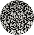 rug #282765 | round black natural rug