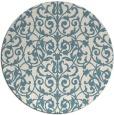 rug #282785 | round blue-green rug