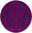 rug #282789 | round pink damask rug