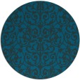 rug #282837 | round blue-green rug