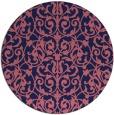 rug #282853 | round pink rug