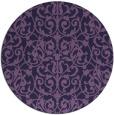 rug #282857   round purple damask rug