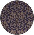 rug #282869 | round blue-violet rug