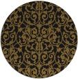 rug #282877 | round black rug