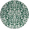 rug #282893 | round green damask rug