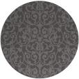 rug #282909 | round mid-brown damask rug