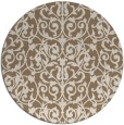rug #282913 | round mid-brown traditional rug